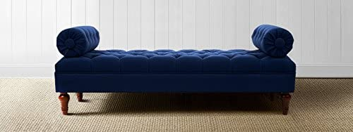 Jennifer Taylor Home Lewis Entryway Bolster Bench, Midnight Blue