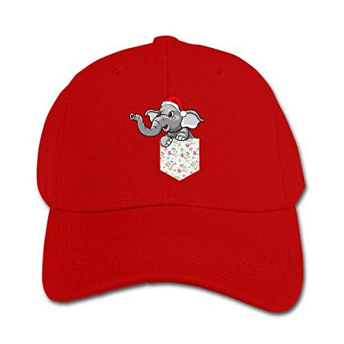 GUFEIFEIN Christmas Pocket Elephant Kid's Peaked Hat Boys Girls Adjustable Baseball Cap