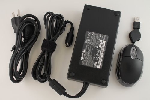 Toshiba Original 180W 19V 9.5A AC Adapter For Toshiba Notebook Model Numbers: Satellite X205-S7483, PSPB9U-03S026, Satellite X205-S9349, PSPB9U-022003, Satellite X205-S9359, PSPB9U-019004, Satellite X205-S9800, PSPB9U-04N026, Satellite X205-S9810, PSPB9U-05C02P. 100% Compatible With Toshiba P/N: PA3546U-1ACA, PA3546E-1AC3, PA3546U-1AC3, ADP-180HB B, PA3673U-1AC3, PA-1181-02. Bundle – 3 items: AC Adapter, Power Cord and MegaPlus Optical Mouse – Black., Best Gadgets