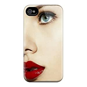 Premium [fbwtEV4479]red Lippy Case For Iphone 4/4s- Eco-friendly Packaging
