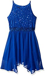 Girls Sequin Lace Party Dress