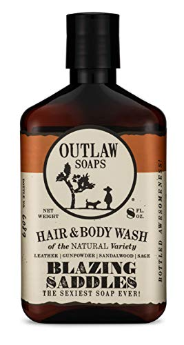 Blazing Saddles Natural Hair and Body Wash - The Sexiest Hair and Body Wash Ever - Western Leather, Gunpowder, Sandalwood, and Sagebrush - Men's and Women's (Best Of Blazing Saddles)