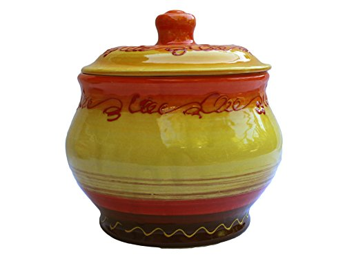 Storage Jar - 1.5 Quarts - Hand Painted in Spain - Sol Design by Cactus Canyon Ceramics