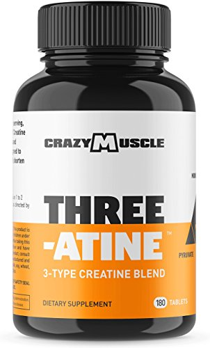 Creatine Pills (2 Month Supply) 5,000mg Per Serving - 180 Creatine Tablets (Better Than creatine Capsules) - Muscle Gain Supplement with 5g of Creatine Monohydrate, Pyruvate + AKG - Optimum Strength (Best Creatine Monohydrate Product)