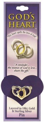 Gods Heart Small Pin# God's Heart Two Tone 1