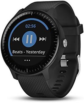 Garmin Vivoactive 3 Music GPS Smartwatch Black Gunmetal (010-01985-01) 1  Year Extended Warranty