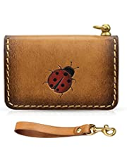 Coin Purse Change Wallet Genuine Leather Mini Coin Pouch Hand Rubbing Card Holder