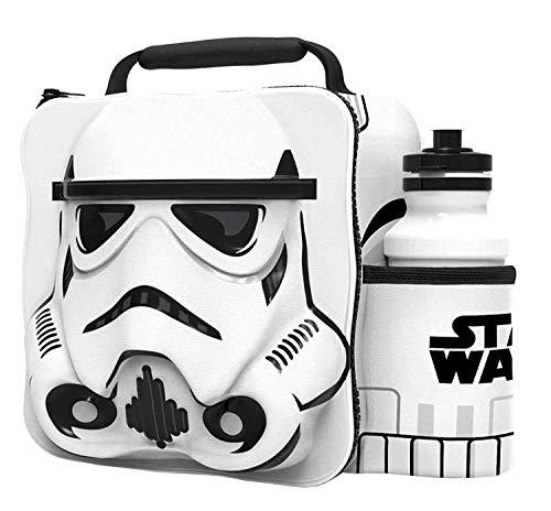 [해외]STORM TROOPER 아동용 3D 도시락 상자 가방 스포츠 물병 포함 / STORM TROOPER Kids Children 3D Lunch Box Bag With Sport Water Bottle