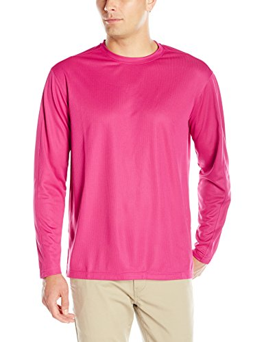 Clique Men's Long-Sleeve Ice Performance Tee, Ribbon Pink, XXX-Large