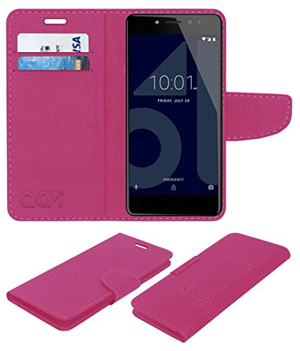 ACM Faux Leather Flip Cover for Tenor 10.Or E   Pink
