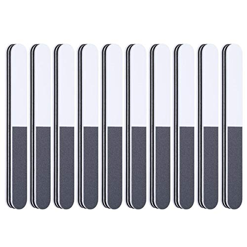Nail Files and Buffers | 3 ways Washable Double Sided Nail Files, Shape and Shine Nail Tool, Professional Nail Art Kit, Pack of -