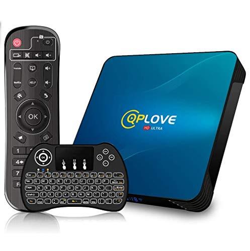 Android TV Box 10.0, Android 10.0 QPLOVE Q8 TV Box RK3318 64bits /4G + 64G Mini Dual WiFi 2.4G / 5GHz, 100M LAN, USB 3.0…