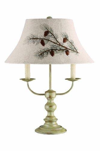 AHS Lighting L1459-U1 Bayfield Floor Pinecone Shade Lamp, 19.0