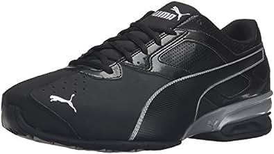 PUMA Men's Tazon 6 FM Puma Black/ Puma Silver Running Shoe - 7 D(M) US