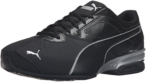 PUMA Men's Tazon 6 Fm Cross-Trainer Shoe, Puma Black/ Puma Silver, 9 W US