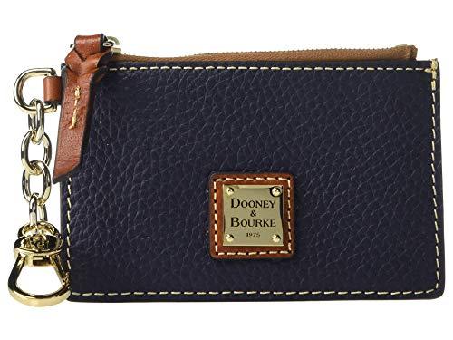 Dooney & Bourke Pebble Grain Zip Top Card Case Dooney & Bourke Top Zip Wallet