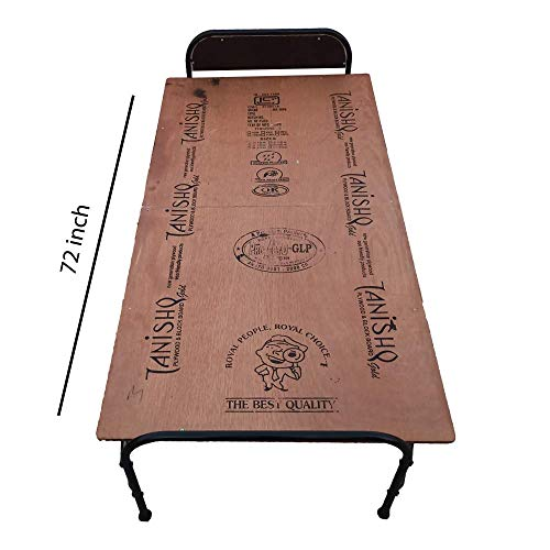 AARAM CHARPAI UDYOG Plywood Folding Bed Head Single Size (3ft X 6ft) | Support for Pillow | Portable Folding Bed