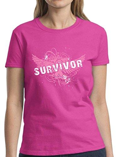 Survivor Womens Cancer Pink T-shirt (Pekatees Cancer Awareness Shirts For Women Breast Cancer Shirts Survivor Breast Cancer Tshirt M)