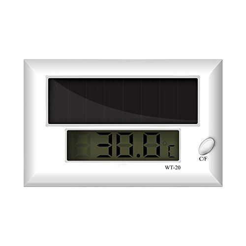 hygger Self-adhersive Aquarium Thermometer, LCD Solar Fish Tank Digital thermostat, Repitle Thermostat by hygger