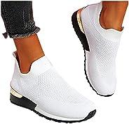 Elegant Elastic Slip-on Flat Shoes, Women's Sneakers Elastic Slip on Flat Walking Shoes with Arch Support,