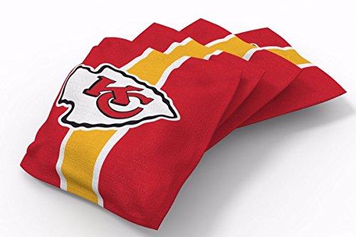 PROLINE 6x6 NFL Kansas City Chiefs Cornhole Bean Bags - Stripe Design (A)