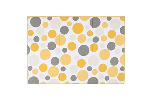 Ritz Polka Dot Reversible Absorbent Microfiber Dish Drying Mat, 21-inch by 14-inch, Daffodil Yellow