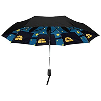 fc06234fc1db Amazon.com : Aideess Outer Black Umbrella Cats Couple UV Anti ...