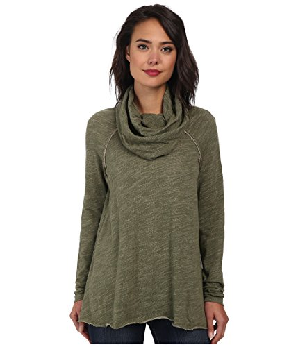 Free People Cocoon Cowl Pullover, Army, MD/LG (Women's 8-12)