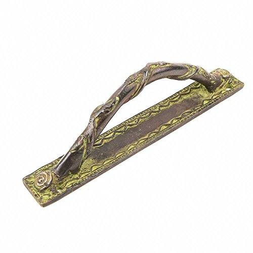 Royal Brass Handles (IndianShelf Set of 4 Handmade Handcrafted Artistic Brass Bronze Golden Craft Handmade Royal Pulls Handles Door Cabinet Drawer Wardrobe Cupboard Indian)