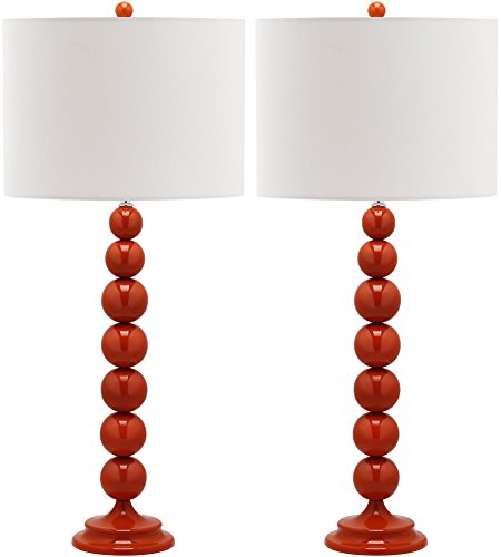 Safavieh LIT4090D-SET2 Lighting Collection Jenna Base Stacked Ball Table Lamp (Set of 2), 14