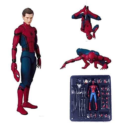 PAPCOOL Spiderman Action Figure 7 inch Hot Toys Universe Comic Legends Figures Christmas Collectibles Halloween Mini Small Amazing Model Toy Collectable Big Large Gift Collectible Gifts for Kids Baby