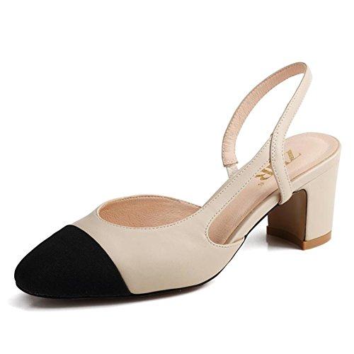 High Sommer Sandaletten Kleine Süße heel Sandalen Schuhe Chunky Felder Weiblichen Heels Tip Sandalen Atmen Spitz Koreanischen Im Bindung FWzFc0ISBq