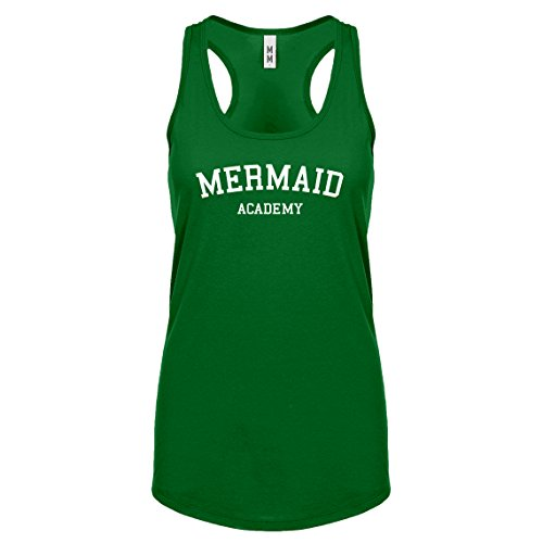 Indica Plateau Racerback Mermaid Academy Medium Kelly Green Womens Tank Top