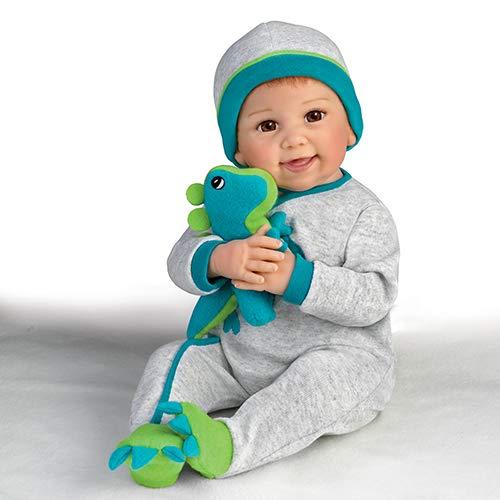 Linda Murray So Truly Real Poseable Baby Doll With Plush Dinosaur by The Ashton-Drake Galleries (Ashton Drake Dolls Boy)