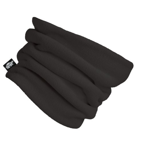 Turtle Fur - Double-Layer Neck Warmer, Chelonia 150 Fleece, Black Neck Gear