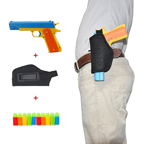 Classic Foam Play Toy Gun Colt 1911 Toy Gun with Tactical Holster and Colorful Soft Bullets,Real Dimensions,Fun Outdoor Game