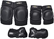 Fesjoy Knee Pads,Thicken Knee Pads Set 6 in 1 Protector Kit Knee Pads Elbow Pads Wrist Guards Protective Equip