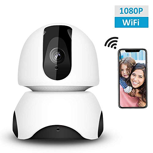 Security Camera 1080P WiFi Dog Pet Camera, Wireless IP Camera Indoor Pan Tilt Zoom Home Camera Baby Monitor IP Camera with Motion Detection Two-Way Audio, Night Vision – Cloud Storage
