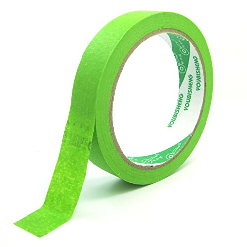 WINGONEER 27 yards Mask Masking Tape for Indoor and Outdoor Width 20mm - Green by WINGONEER®