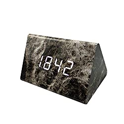 Succper Silent Analog Alarm Clock Non Ticking, Gentle Wake, Beep Sounds, Increasing Volume, Battery Operated Snooze and Light Functions, Easy Set