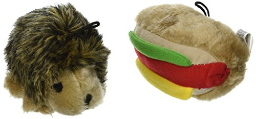 Booda Corporation (Aspen) DAP07549 Soft bite Hottdog/Hedgehog, Small, 2-Pack (Dog Toy Booda)