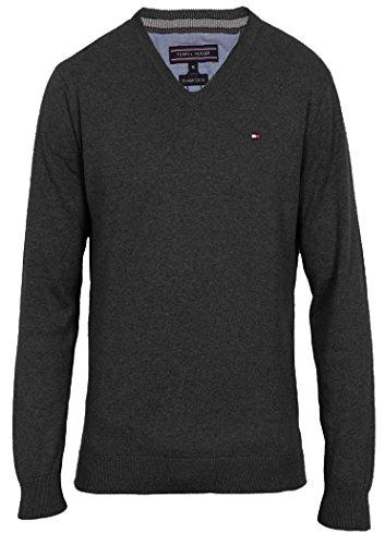 Tommy Hilfiger Herren Pullover PACIFIC V-NECK, Farbe:Anthrazit;Größe:M