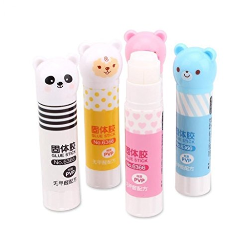 Cartoon Panda Animal Pattern Strong Adhesive Glue Stick Students School Supplies - Random Color Geshiintel