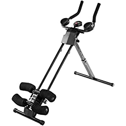 Ultrasport Ultra 150 Curved Fitness Power AB Trainer, Attrezzo per Addominali, Pieghevole