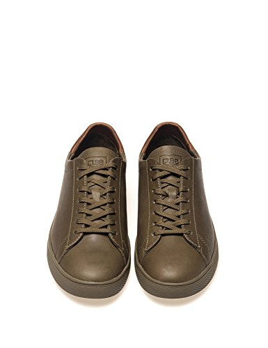 Bradley Leather Olive Clae Men's Leather Sneakers 0qwxFAzn