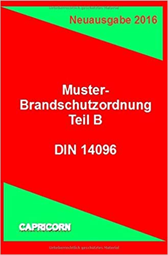 Brandschutzordnung Bso Teil B Din 14096 2