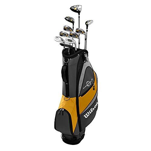 Wilson Profile XD Men's RH Flex Graphite Steel Golf Club Stand Bag Set, Gold -
