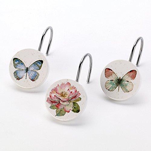 Avanti Linens Butterfly Garden Shower Hooks