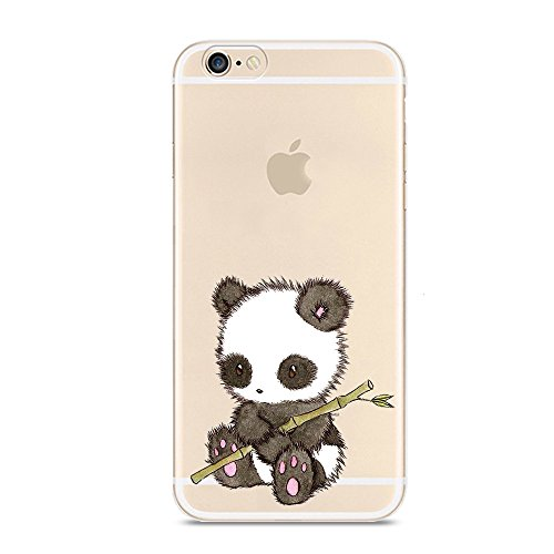 3D Cartoon Panda Soft Silicone Gel Back Case Cover For iPhone 6/6s - 2