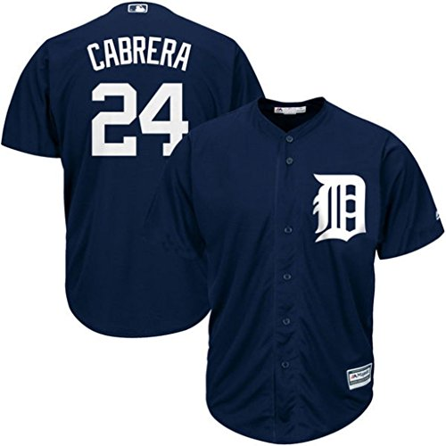 Detroit Tigers White Authentic Jersey (Detroit Tigers MLB Mens Majestic Miguel Cabrera Cool Base Player Jersey Navy Blue Big & Tall Sizes (4XT))